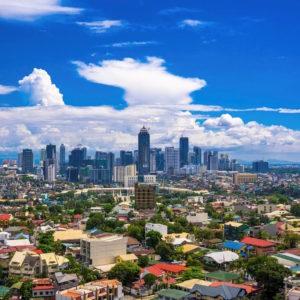 Manila skyline og kontrast