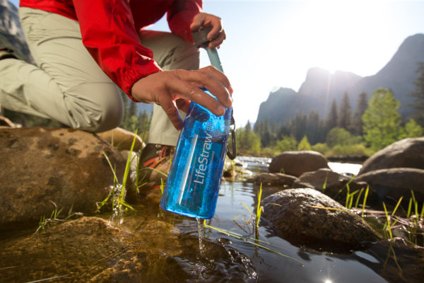 Drink directly from the river