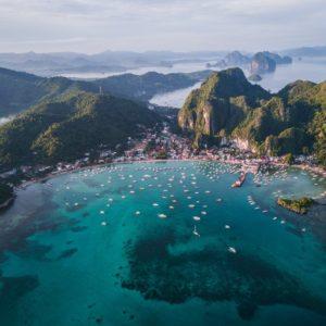 El Nido set fra oven. Palawan er fantastisk for både unge og gamle