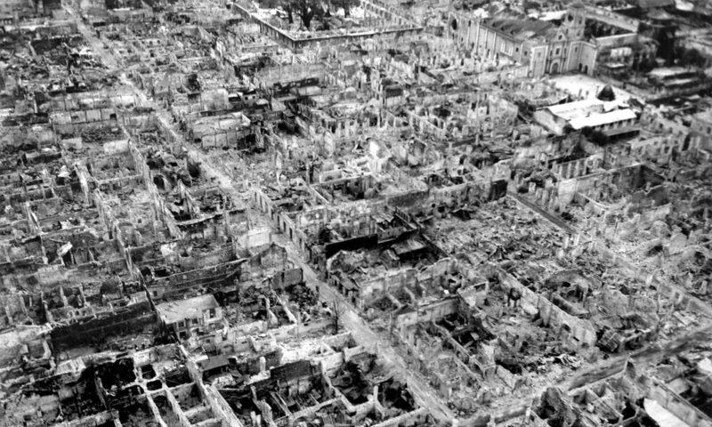 Manila, blev bombet til ukendelighed under 2. verdenskrigen