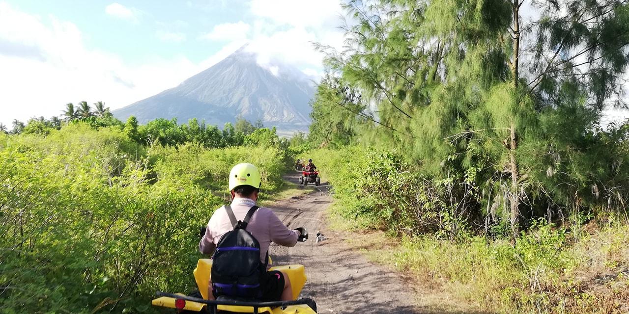 Kom på atv tur ved legaspi og mt. mayon vulkanen