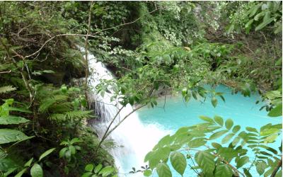 kawasan falls på filippinerne er et populært turistmål for vores kunder. besøg filippinerne med time to travel